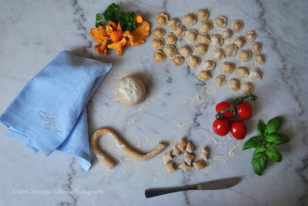 Home-made orecchiette for cooking lesson in Apulia