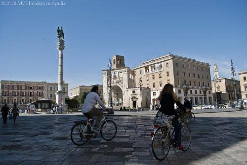 cycling around lecce